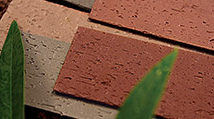 It has the same unique texture as kiln-fired brick, however, flexible and thin.